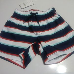 Gymboree baby boy multi color striped bathing shor